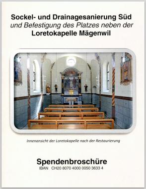 Sockel- und Drainagesanierung Süd - Spendenbroschüre